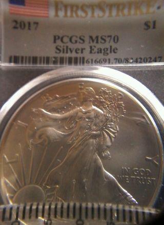 2017 American Silver Eagle - Pcgs Ms70 photo
