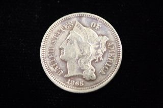 1865 Three Cent Nickel photo