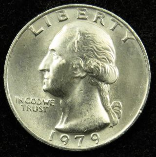 1979 Uncirculated Washington Quarter Bu (b04) photo