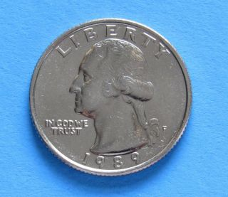 1989 - P 25c Washington Quarter photo