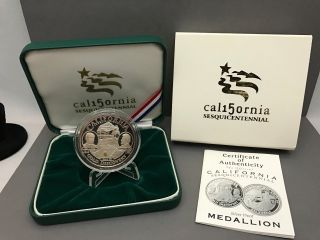 California Sesquicentennial Silver Proof Medallion And photo