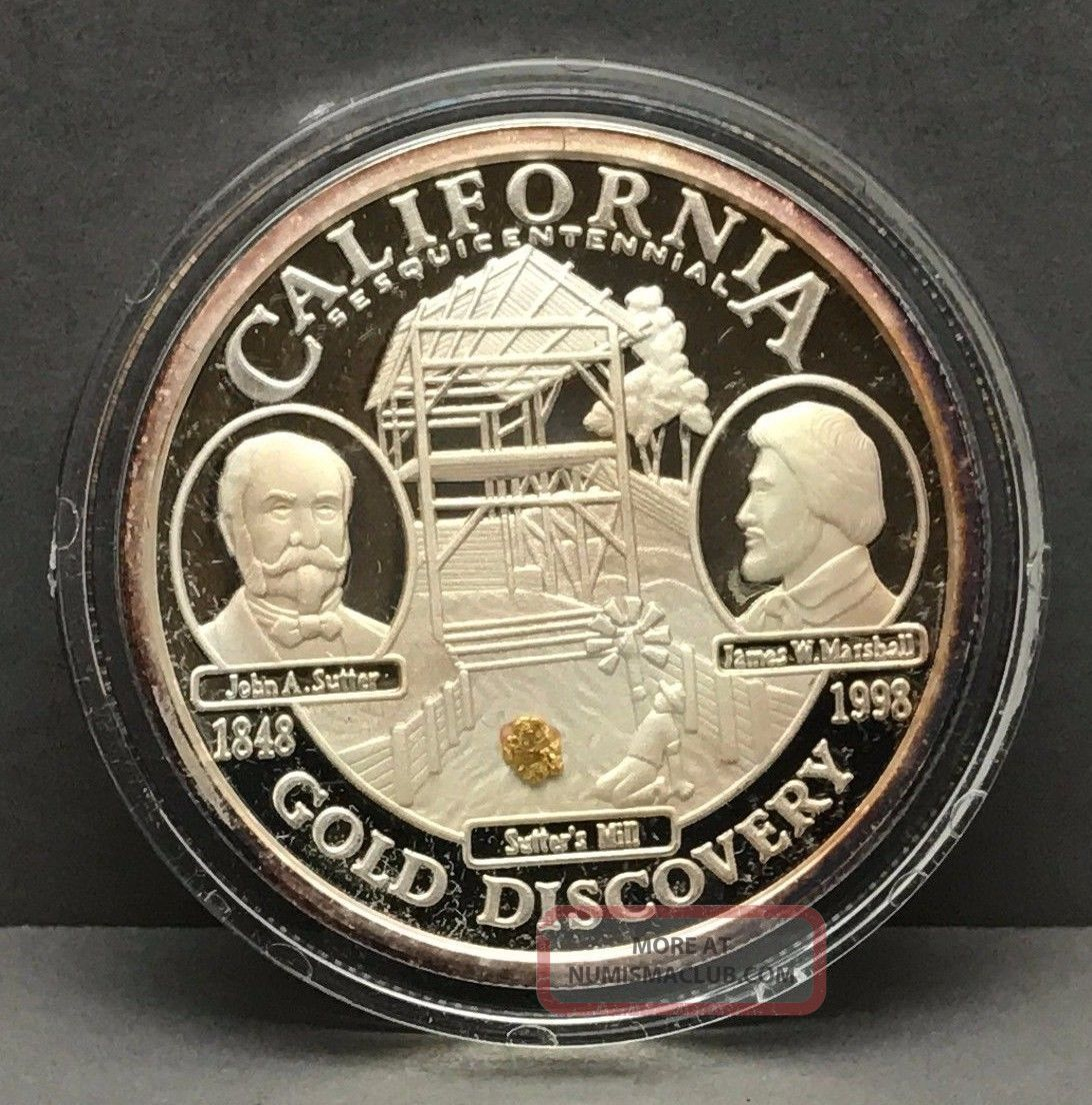 California Sesquicentennial Silver Proof Medallion And