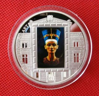 Nefertiti,  Ancient Egypt Queen,  Colored Silver Commemorative Coin,  55mm photo