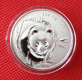2003 Chinese Panda Silver Plated Commemorative Medal Coin photo