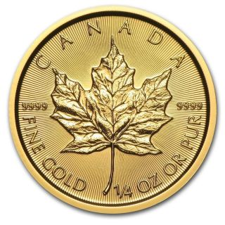 2016 Canada 1/4 Oz Gold Maple Leaf photo