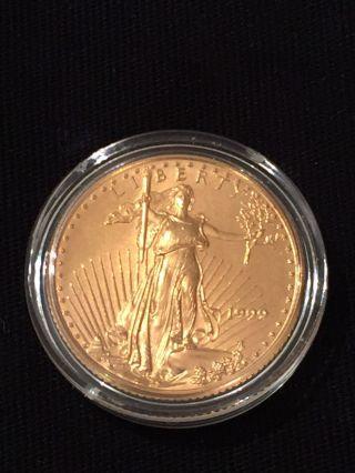 1999 American Gold Eagle 1/4oz Fine Gold Coin - photo