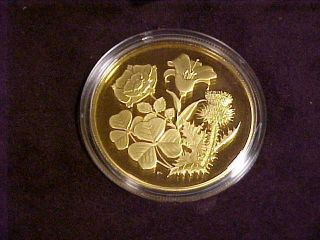 1998 Canada 350 Dollars 99999 Gold Coin Bouquet Proof photo