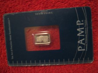 Pamp Suisse 1 Gram Platinum Bar With Assay Certificate photo
