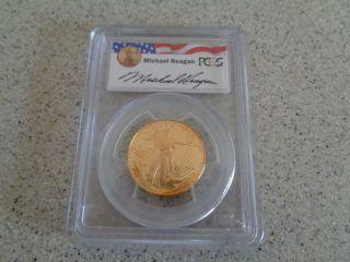 1994 - W $25 Gold American Eagle Reagan Legacy Pr69 photo