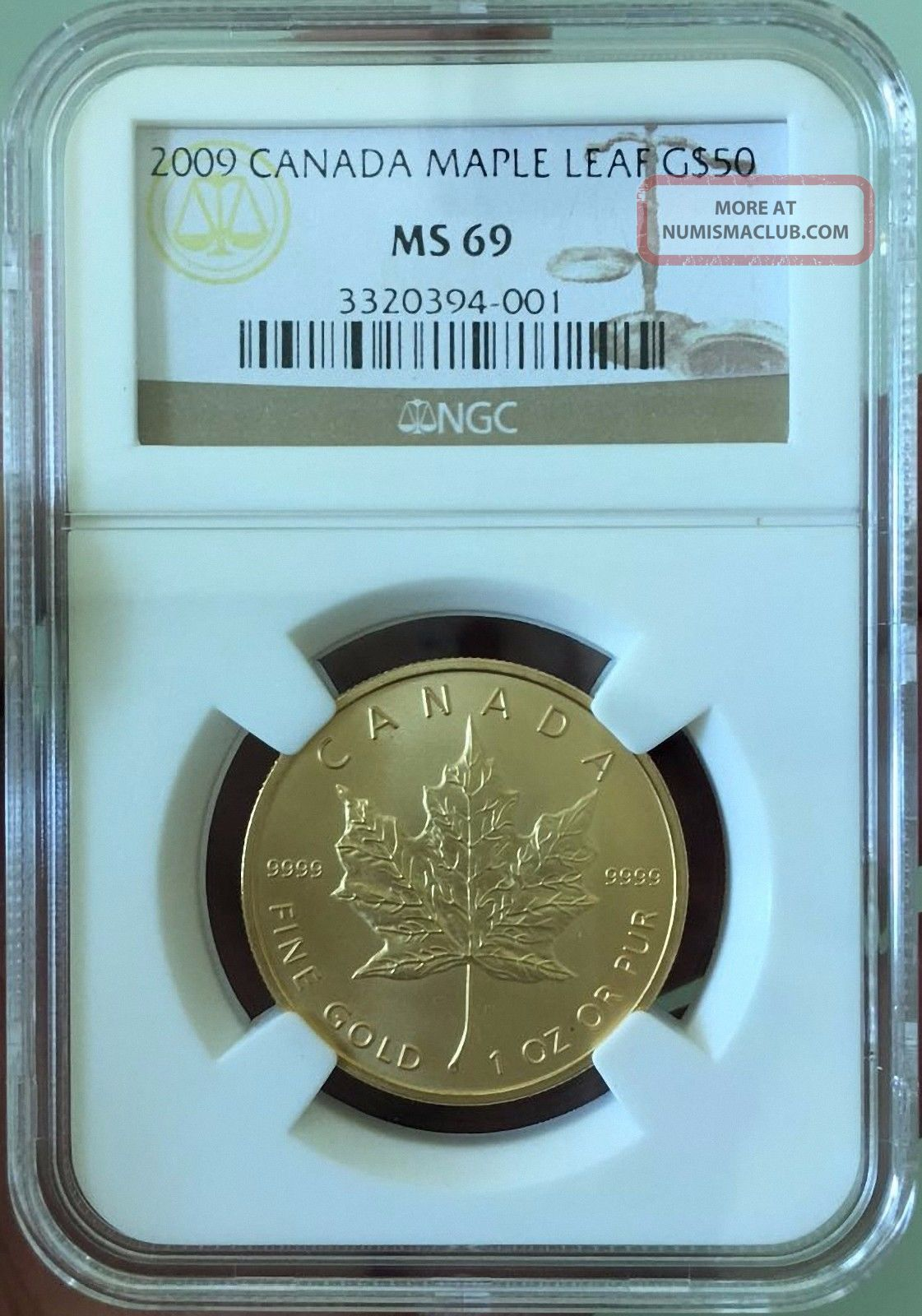 2009 Gold Canada Fifty Dollar Maple Leaf Coins: Canada photo