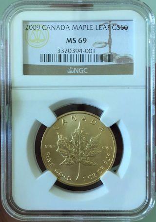 2009 Gold Canada Fifty Dollar Maple Leaf photo