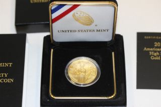 2015 American Liberty Ultra High Relief 1 Oz Gold Coin (w/box And) photo