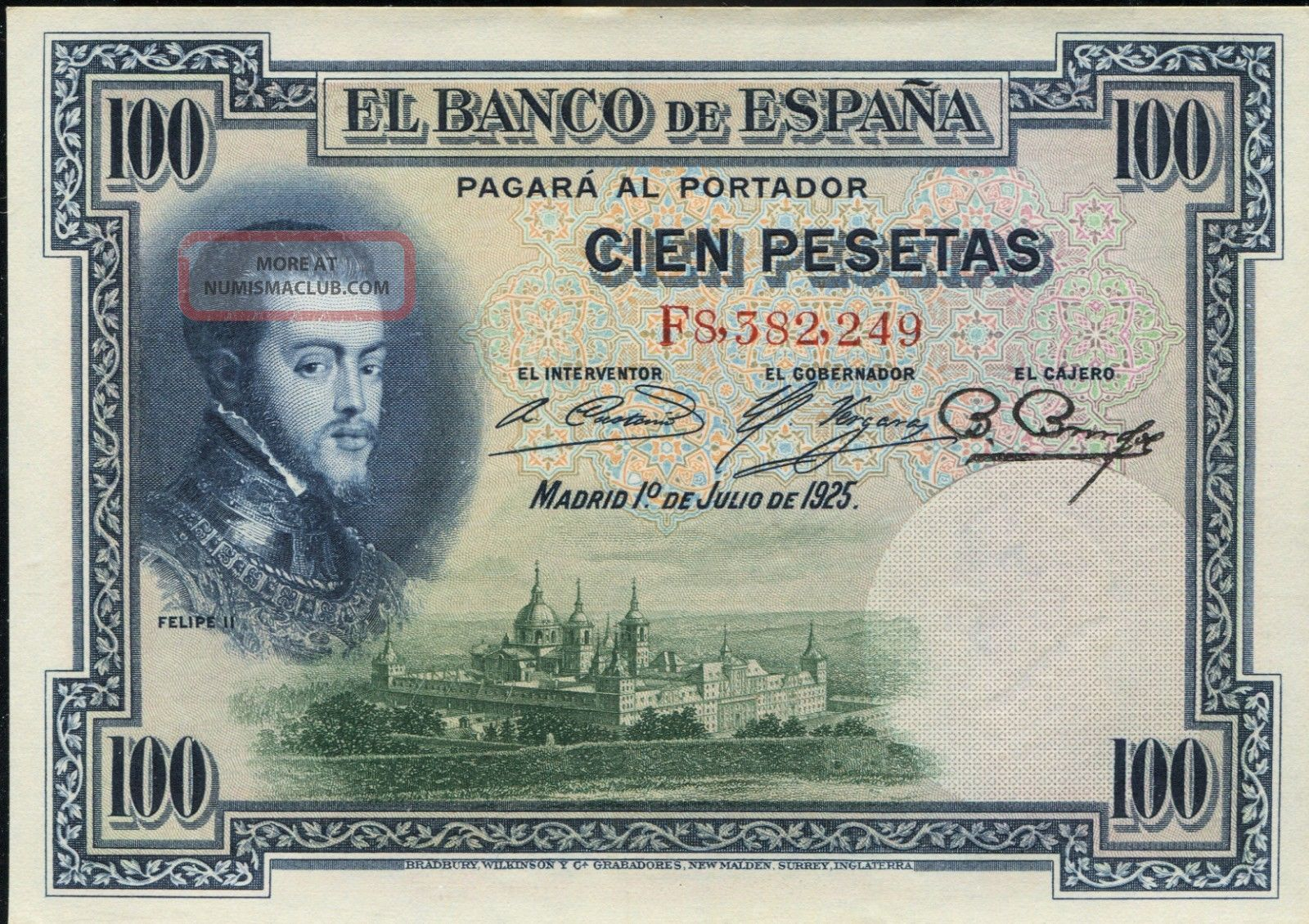Spain P - 69c El Banco De Espana 100 Pesetas Unc Europe photo