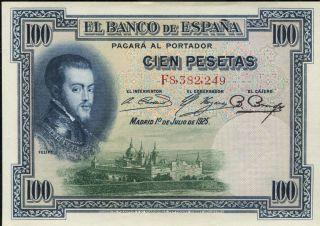 Spain P - 69c El Banco De Espana 100 Pesetas Unc photo