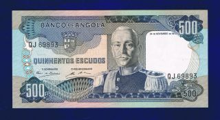 Angola 500 Escudos 1972 P101 Very Fine,  Qj69893 Cl - 1 photo