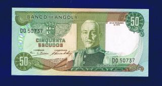 Angola Banknote 50 Escudos 1972 Unc Do50737 photo