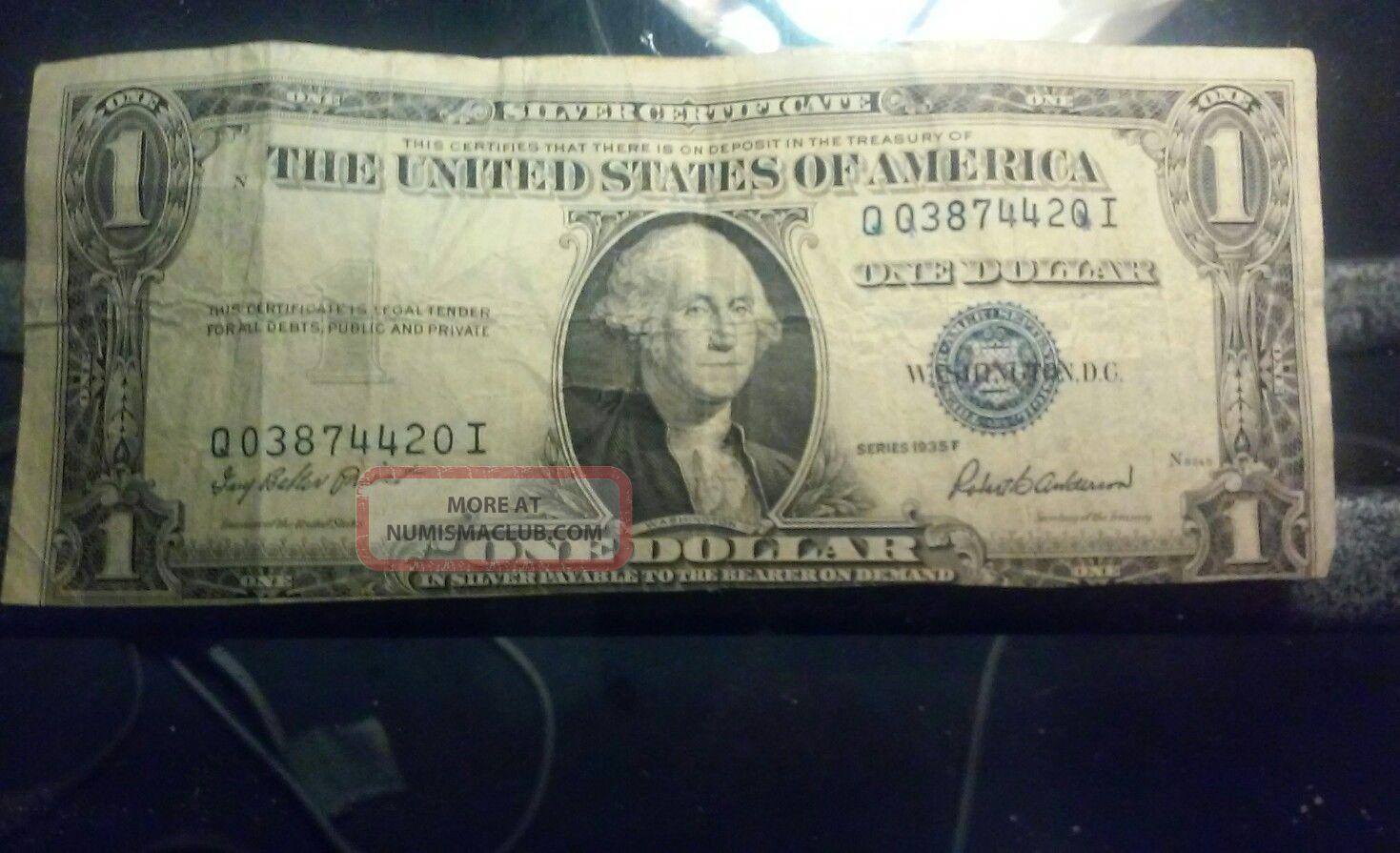 1935 F Silver Certificate Error