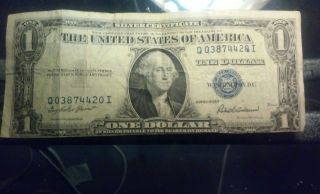 1935 F Silver Certificate Error photo