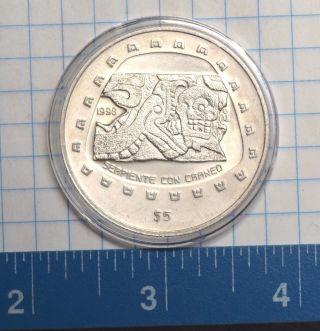 Mexico 1998 Mo Bu Serpiente Con Carneo 1 Oz Silver - Low Mintage 5000 - Rare photo