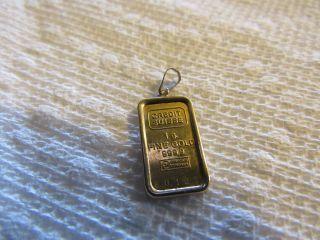 1 Gram Gold Pendant Credit Suisse 99.  9pure photo
