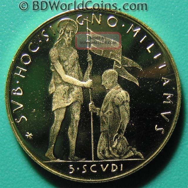 1978 Malta 5 Scudi Gold Proof Angelo De Mojana Rare Maltese Coin Mint=1,  000 Europe photo