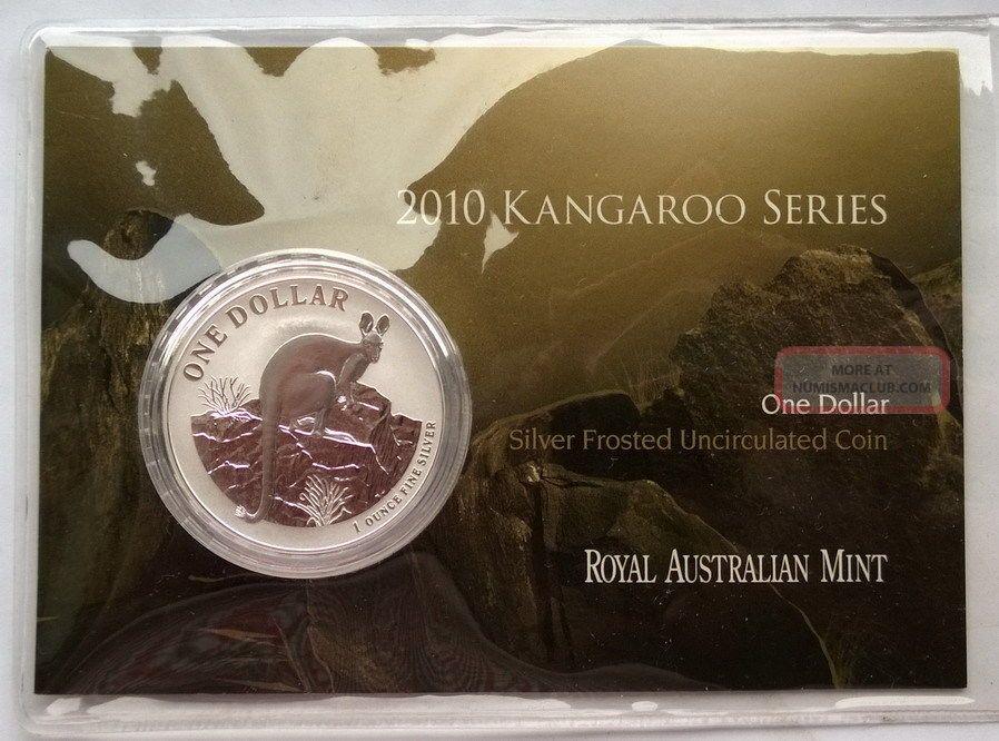 Australia 2010 Kangaroo Dollar 1oz Silver Coin,  Bu Australia & Oceania photo