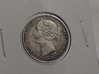1894 Canada Newfoundland 20c Silver Xf 413s94c photo