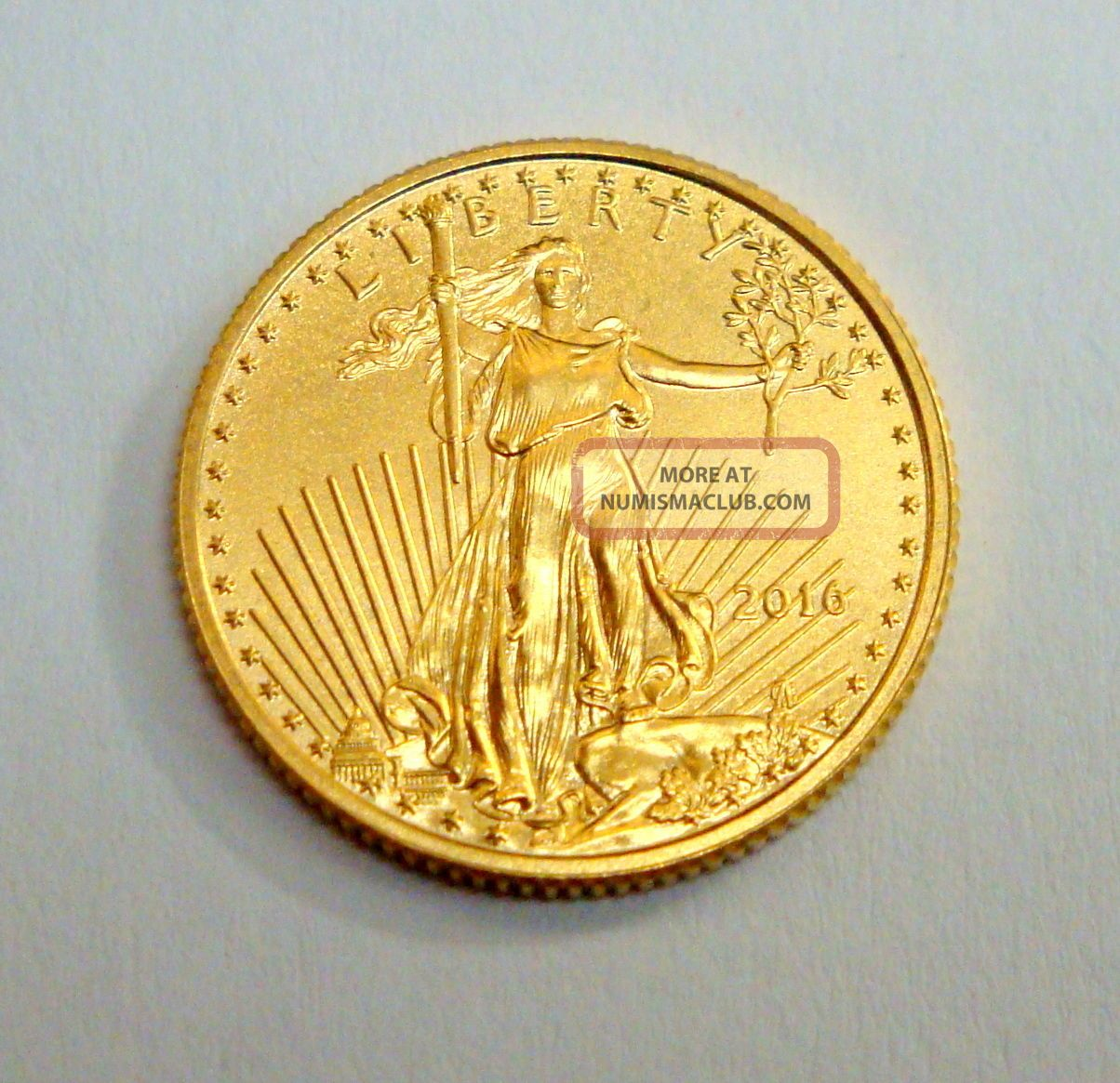 2016 1/10 Oz $5 Walking Liberty Fine Gold Coin,  American Eagle,  Uncirculated Gold photo
