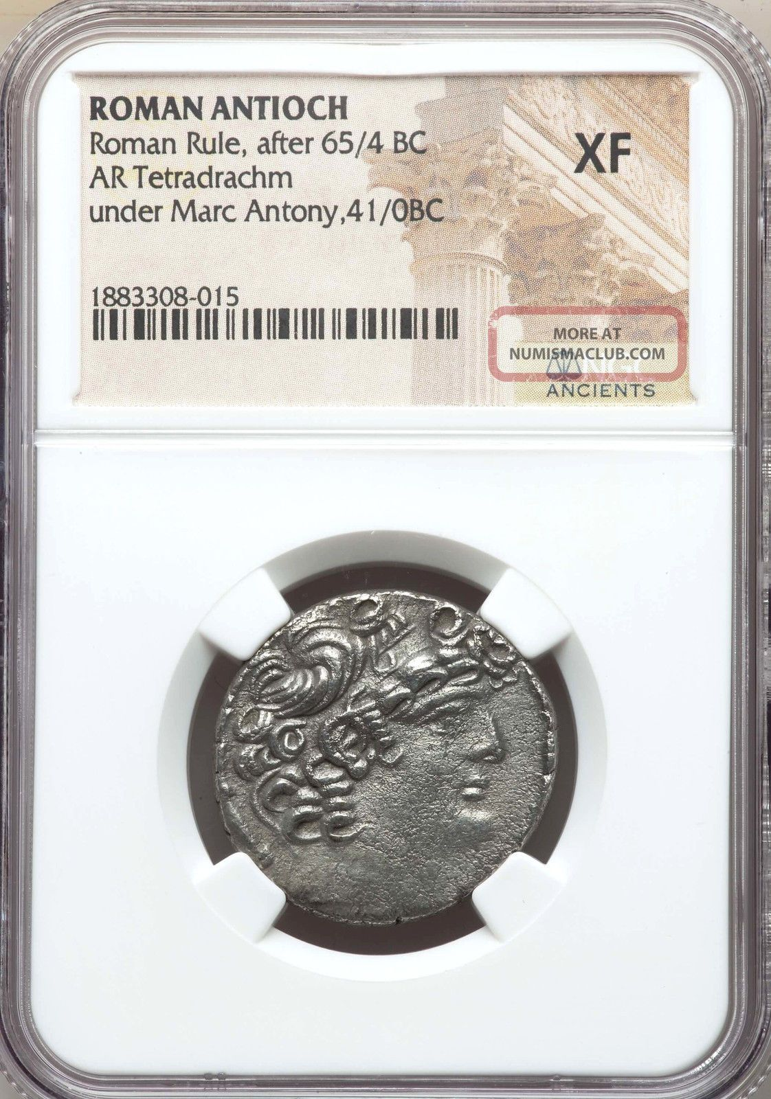 Syria Antioch Mark Antony,  As Triumvir 43 - 31 Bc Ar Tetradrachm Ngc Xf Coins: Ancient photo