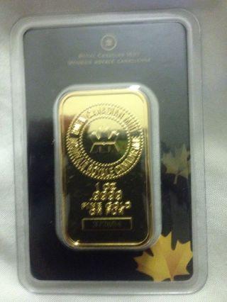 1 Oz Royal Canadian Monnnaie Royal Canadienne.  9999 Fine Gold Pur photo