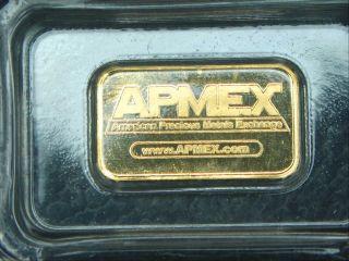 Apmex Gold 9999 Bullion 1 Gram Eagle Bar photo