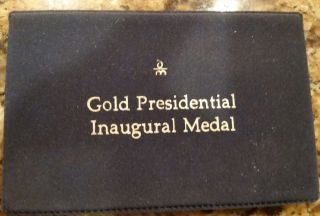 Jimmy Carter Official 1977 Presidential Inaugural Gold Medal photo