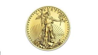 2016 Gold American Eagle (gae) 1/10oz (tenth Ounce) $5 photo