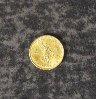 1991 1/10 Ounce Gold Mexico Coin - 999 Fine - photo