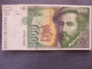 Banco De España 1000 Mil Pesetas 1992 2u9423640 photo