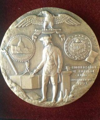 Medallic Art Co.  Us Capitol Cornerstone Commemorative Bronze Medal In Boxes photo