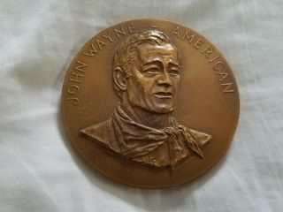 John Wayne - American 1979 Commemorative Coin Medal Old West F.  Gasparro photo
