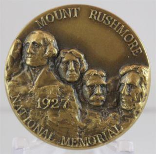 Bronze Mount Rushmore & Black Elk Memorial Medal National Park Roche Jaune photo