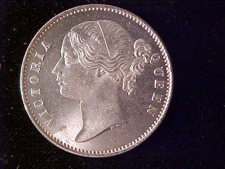 India One Rupee 1840 Bu photo