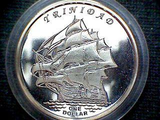 Gilbert Islands Kiribati 2014 Dollar,  Trinidad Sailing Ship Fantasy Coin photo