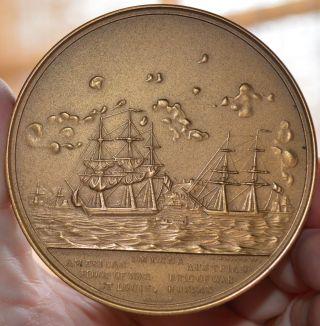 1853 Commander Duncan N Ingraghm Us Navy Hero Us Bronze Medal 3