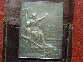Art Nouveau Shooting Competition Honneur Patris Medal By Augustin Dupré In Case photo