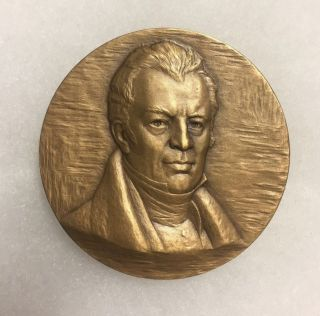 1968 Nyu Hof James Kent,  Jurist,  High Relief Bronze Medal By Eleanor Platt.  Maco photo