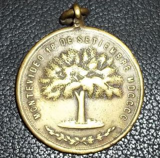 Uruguay Montevideo 1900 Antique Tree Festivities,