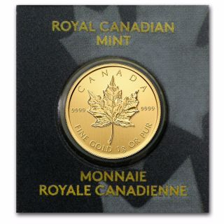 1 Gram.  999 Pure Gold Canadian Maple Leaf Coin photo