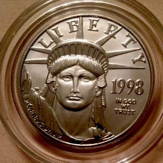1998 1 Oz Platinum Eagle Bu (in Capsule) photo