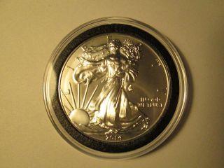 2014 Silver American Eagle Uncirculated $1 Oz.  999 Fine Bullion Dollar Ounce Unc photo