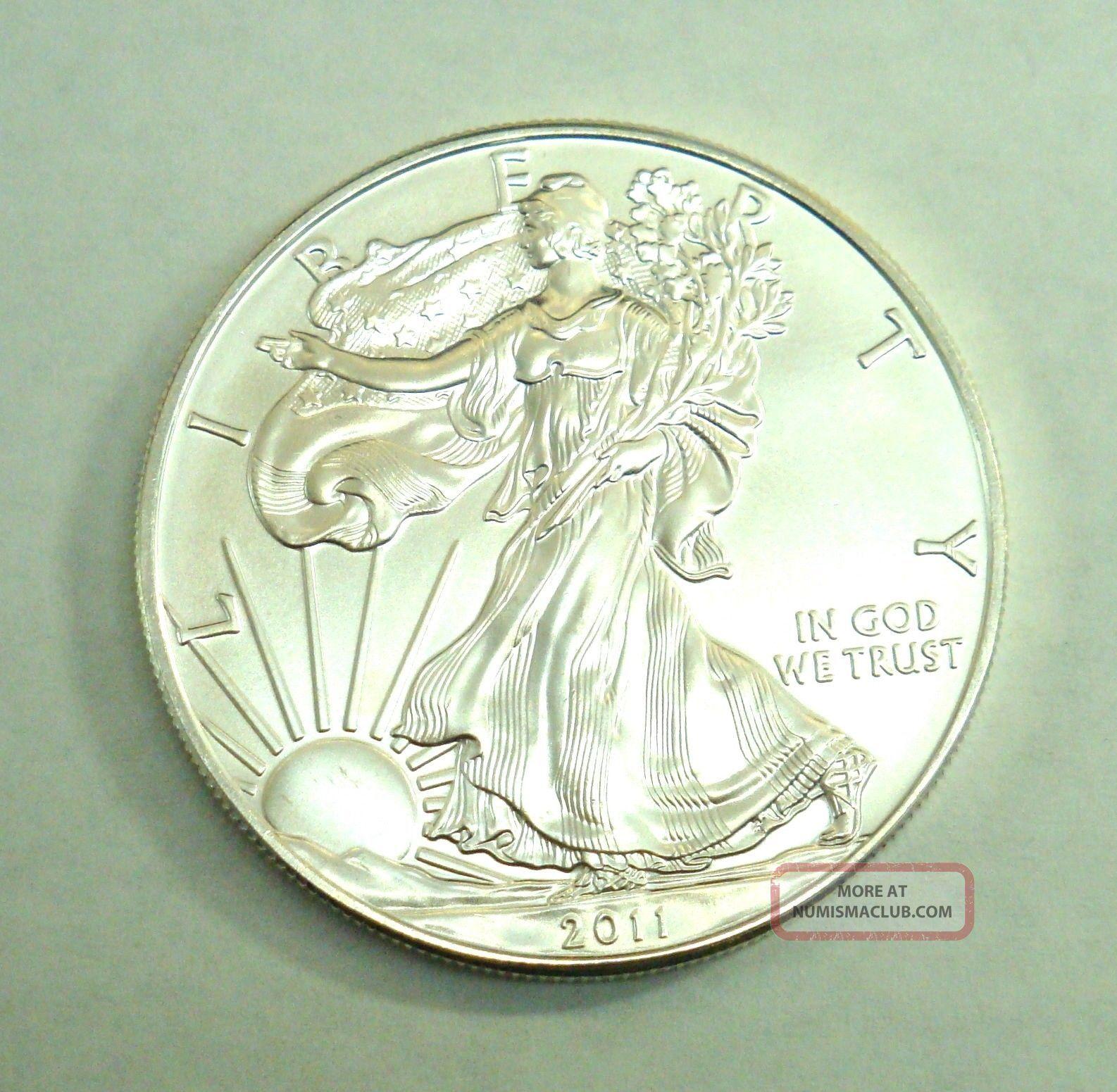 2011 American Silver Eagle Gem Bu One Dollar One Troy Oz