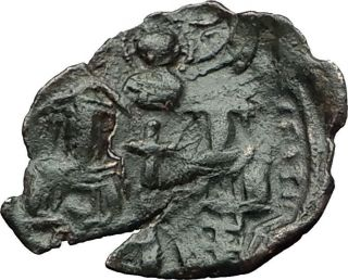 Palaeologus Dynasty 1259 - 1453ad - Trachy Authentic Ancient Byzantine Coin I59387 photo