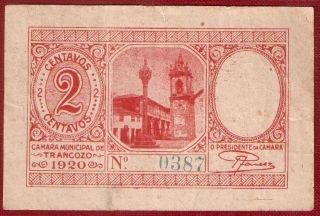 Portugal - Emergency Paper Money - Trancozo - 2 Centavos (1920) photo